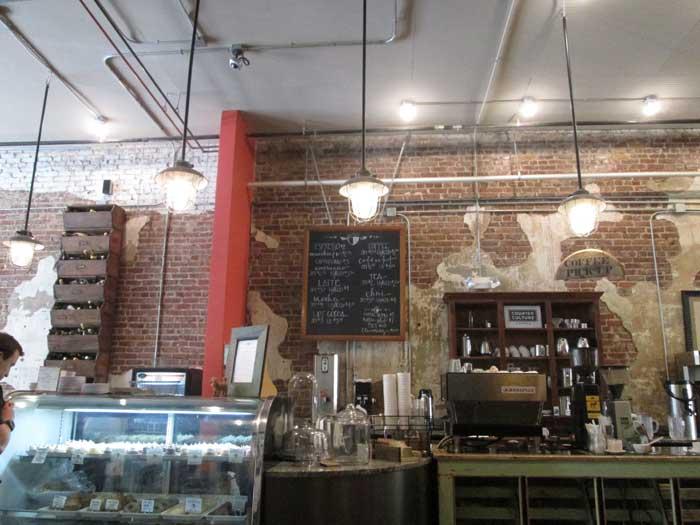 Coffee shop hop spiffy eats giggle water for Coffee shop setup and decor