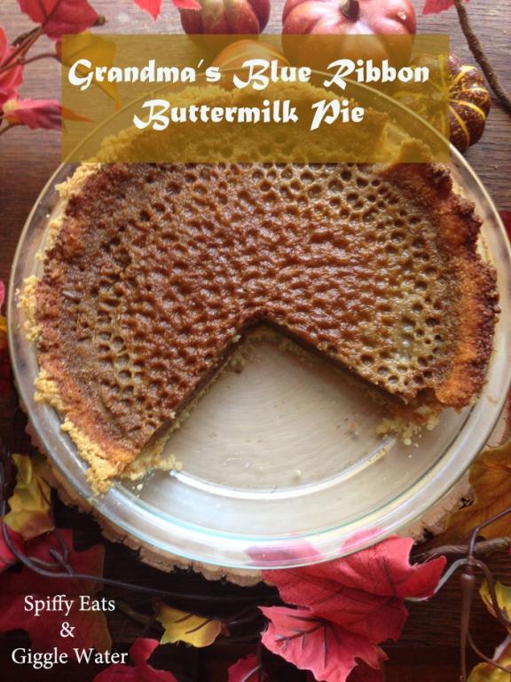 Grandmas Blue Ribbon Buttermilk Pie Clean Version